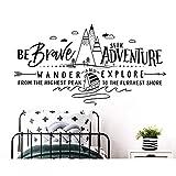 TIVOPA Motivación Slogan Campamento De Verano Bosque Al Aire Libre Vinilos De Pared Niños Dormitorio De Vinilo para Jóvenes Decoración para El Hogar Wallpaper Er47