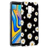 Pnakqil Funda Samsung Galaxy J6 Plus, Silicona Transparente con Dibujos Diseño Slim TPU Antigolpes...
