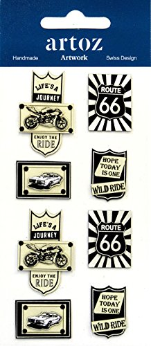 Route 66 Harley Davidson Craft Versiering - Leuke Scrapbooking Card Stickers