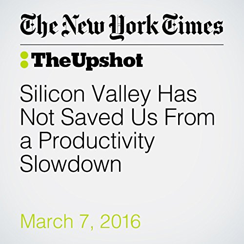 Silicon Valley Has Not Saved Us From a Productivity Slowdown audiobook cover art