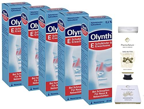 Olynth 0,1% - 5x15 ml Sparpackung inkl. einer hochwertigen Handcreme ODER Seife von Pharma Nature