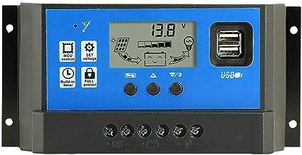 منظم شحن طاقة شمسية اوتوماتيك  12 / 24 فولت 60 امبير  مزود بمنفذين usb 5v