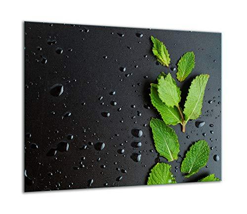 QTA - Placa protectora de vitrocerámica 60 x 52 cm 1 pieza cocina eléctrica universal para inducción protección contra salpicaduras tabla de cortar de vidrio templado como decoración Negro