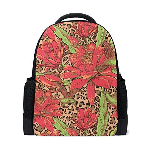 LIANCHENYI Red Equinox Rucksack, Blumendesign, für Schule, Reisen
