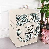 洗濯機カバー 全自動洗濯機適用 家装飾-洗濯機カバー-シルバーいい気分_幅60厚さ55高さ85cm