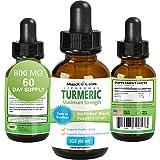 Turmeric Liquid - Highest Potency 800mg - Liposomal Tumeric Drops with BioPerine Black Pepper Extract - Antioxidant, Pain Relief, Joint Support - Turmeric Root Curcumin - Non-GMO 2oz