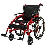ZDW Silla de ruedas Silla de ruedas Ligero Plegable Aleación de aluminio Ancianos Conducir Médico Suministros médicos para adultos, Discapacitados Viajes en carro, Multifunción Tipo de empuje Caminan