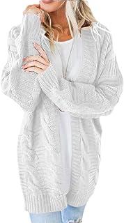 Women's Open Front Cardigan Sweaters Loose Outwear Coat