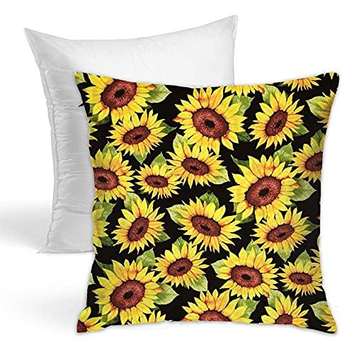 LIANGFF - Federa per cuscino a forma di girasole, 45 x 45 cm, adatta per divano e letto