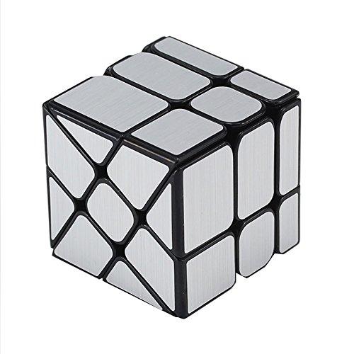 EasyGame Magic Cube 3X3 Espejo Rueda Speed Cube Puzzle, Oro colección