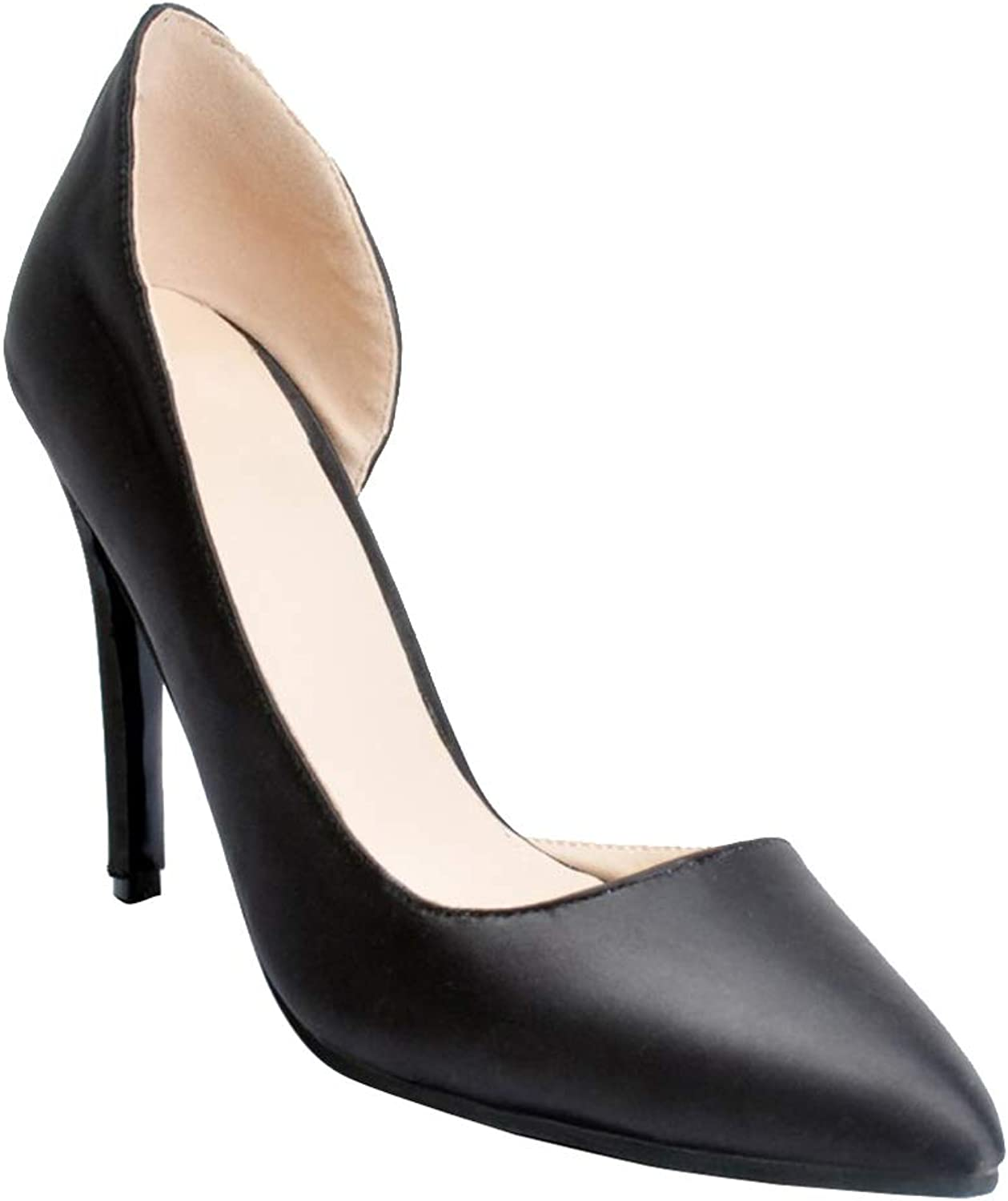 CASSOCK Ladies Handcrafted Simple High Heel Pumps D'Orsay Office Daily Walk Casual shoes