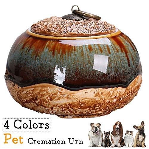 Pet Urn Ceremic for Hond Kat Vogel van de As van de Herinnering Storage Box 5.1x4.1in (Color : A)