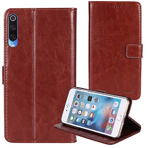 TienJueShi Braun Retro Business Flip Book Stand Brief Leder Tasche Schütz Hülle Handy Case Für XGODY P30 6 inch Abdeckung Wallet Cover Etui