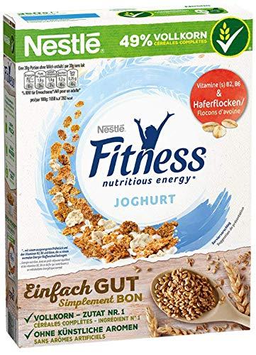 Nestlé Fitness Joghurt, Frühstückscerealien mit Vollkorn und teilweise Joghurtgeschmack (1 x 350 g)