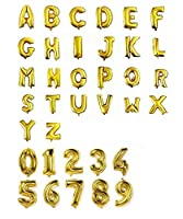 装飾・演出バルーン 16インチ 約30センチ アルミ ゴールド 文字 バルーン アルファベット 組み合わせ 自由 誕生日 開店 祝い 名前 (8)