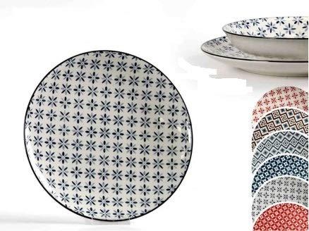 GICOS SRL 1PZ Piatto Piano 3,2 X 26 CM in Ceramica Linea Casablanca
