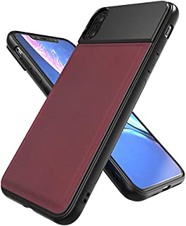 Apexel Photography Phone Case for iPhone Xs max Thin/Protecive/Professional Photo Case with 17mm Thread for Camera Phone Lovers (Wine Red)