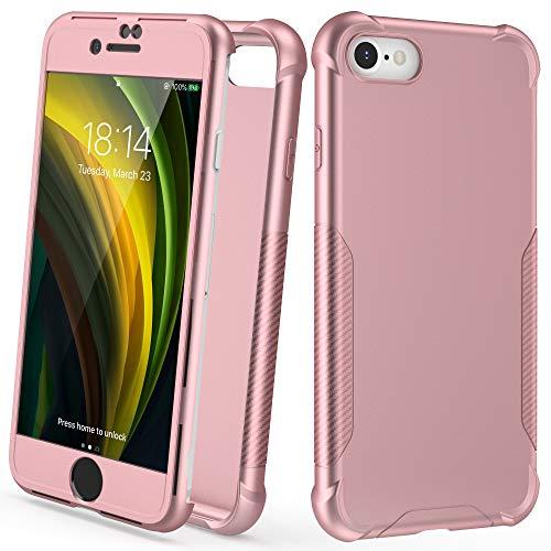 ORETECH Funda Compatible con iPhone 7/8/SE 2020, con [2X Protector de Pantalla...