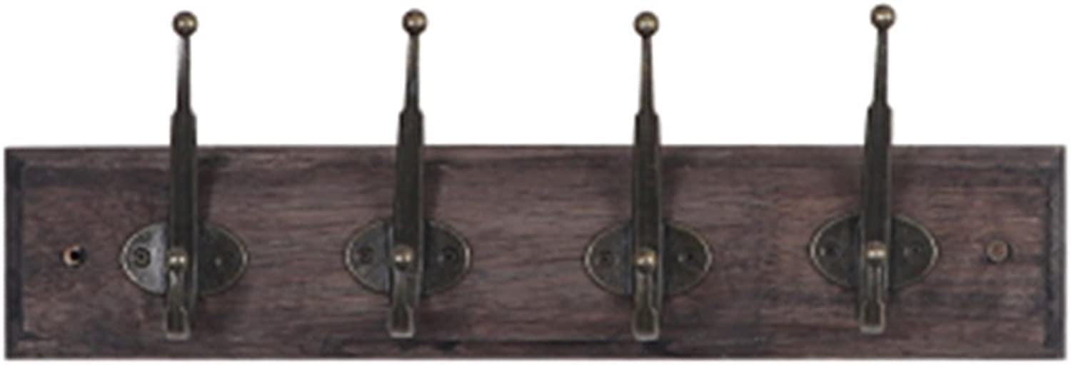 Coat Rack, Retro Clothing Store Display Rack Hook On The Wall Hook Dressing Room Hanger European Solid Wood Hanging Wall 30  8cm Easy to Install (Size   40  8cm)