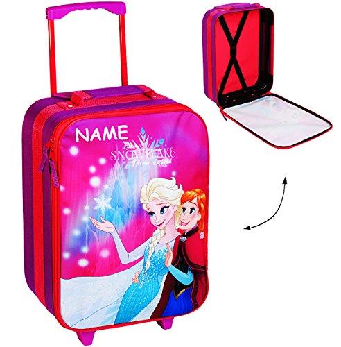 alles-meine.de GmbH großer _ Kinder Trolley -  Disney die Eiskönigin / Frozen  - incl. Name - wasserabweisend & beschichtet - für Mädchen & Jungen - Trolly mit Rollen - Koffert..