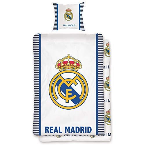Real Madrid Bettwäsche Vereinswappen Fußball Fan Renforcé 135 cm x 200 cm