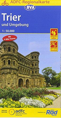 ADFC-Regionalkarte Trier und Umgebung mit Tagestouren-Vorschlägen, 1:50.000, reiß- und wetterfest, GPS-Tracks Download: Zwischen Eifel, Luxembourg und ... (ADFC-Regionalkarte 1:50000)