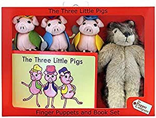 The Puppet Company Tre porcellini e lupo Set di Marionette da dito Tradizionale, multicoloured