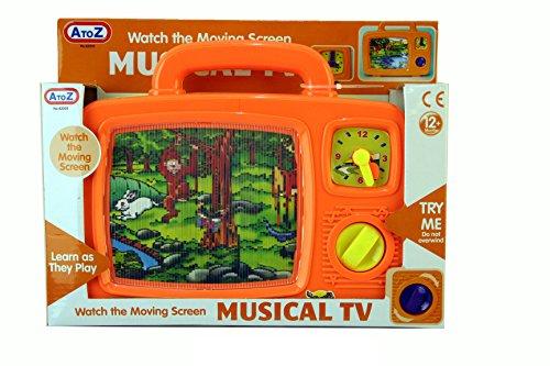 Unbekannt bis Z 62005 Musikspielzeug TV, Gelb oder Orange, Length 24cm x Height 20cm