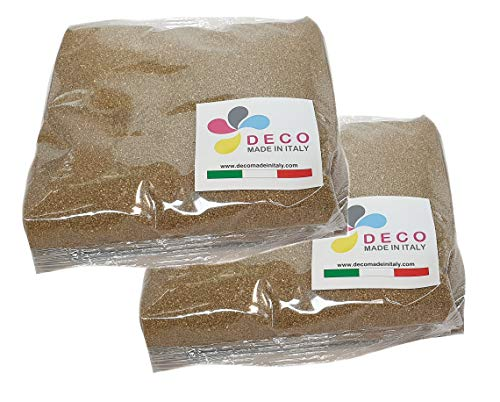 Sabbia Colorata per Decorazioni mm. 0,3/0,7 Confezione da 2 kg. (Oro)