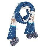 Ynnxia Kinder Schal Herbst Winter Strickschal Kinderschal Halstuch Lätzchen für Kinder (blau) Gr. onesize, Blue Fawn
