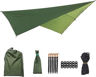 BWAM-tol Sun Sail Shade Canopy Awning Easy Folding Multi-Function Outdoor Tent Sunshade Portable Hammock Rain Fly Waterproof Tent Tarp Camping Backpacking Tarp for Outdoor Patio Garden
