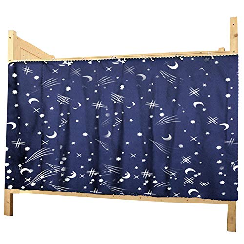 Adela Dorm Home Bunk Bed Curtains Breathable Dustproof Single Sleeper Bed Canopy Blackout Cloth Curtain (1.15 1PCS)