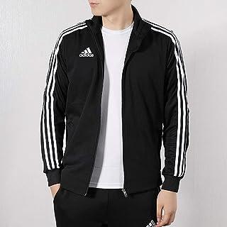 adidas 阿迪达斯男装外套 春季 运动服经典三条纹外套防风连帽跑步训练夹克