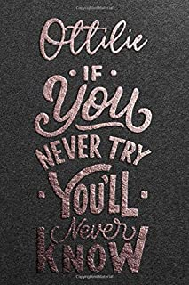 Ottilie If You Never Try You Never Know: Motivational To Do Checklist Notebook / Journal Gifts for Daily Task Planner & Ti...