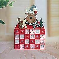 NATALE arredi a tema: questo calendario dell'avvento di legno è il modo perfetto per portare allegria il Natale a casa vostra questa festa albero di natale season.Snowy, carino e delicato. Questo design creativo è sicuro di dare arredamento della vos...