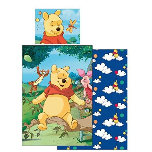 Juego de funda nórdica y funda de almohada (140 x 200 cm y 80 x 90 cm), diseño de Winnie the Pooh