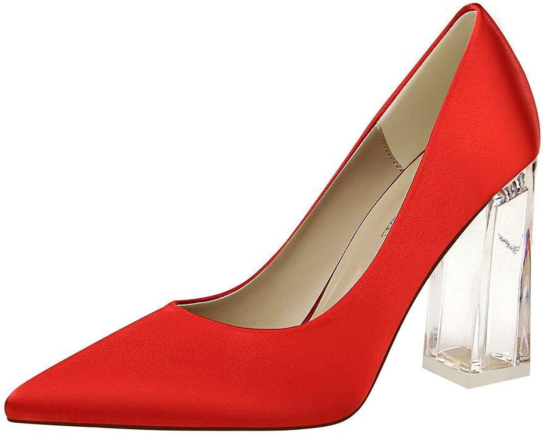 UZZHANG Frauen High-Heels Kristall transparent dick mit mit mit Spitzen einzelnen Schuhen Mode sexy High Heels  245411