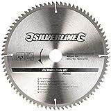 Silverline 244964 TCT Veneer Blade 80T 250 x 30 - 25, 20, 16 mm Anelli