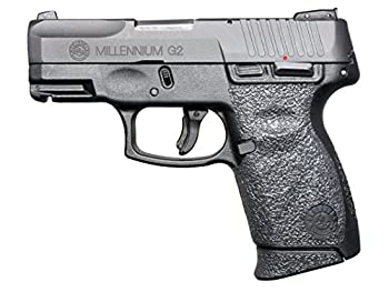 GripOn Textured Rubber Grip Wrap for Taurus Millennium G2 PT111 G2 / PT140 G2  Black