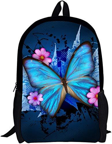 Butterfly Backpack Schoolbag Book Bag Teenagers Satchel Travel