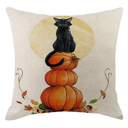 FRAUIT Halloween Decorazioni Zucca Federe Cuscini Divano 45X45 Lino Federa Cuscino Per Letto Auto Copricuscini Copricuscino Home Decoration