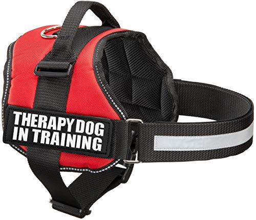 Industrial Puppy Therapy Dog in Training Vest with Hook and Loop Straps and Handle - Harness is Available in XXS to XXL (Small, Fits Girth 22.5-26