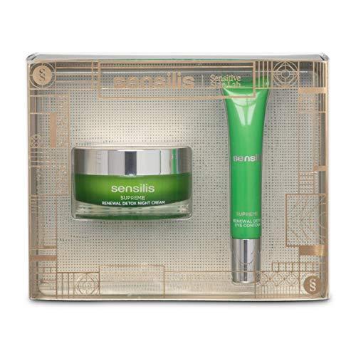 Sensilis Supreme Renewal Detox - Kit de Belleza con Crema de Noche (50 ml) + Contorno de Ojos (15 ml)