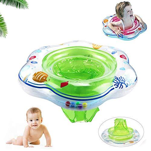 Baby Schwimmring,Baby Schwimmsitz Baby Schwimmhilfe mit Schwimmsitz PVC für Kleinkind Schwimmhilfe 6 Monate bis 36 Monate, Grün
