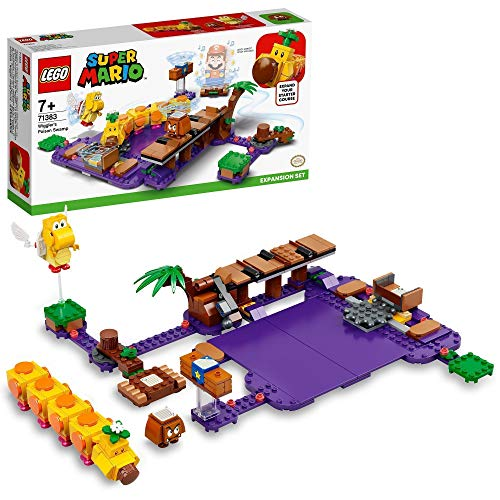 LEGO 71383 Super Mario Wigglers Giftsumpf–Erweiterungsset, modulares Spielset zum Sammeln mit Gumba und...