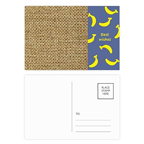 DIYthinker Tawny jute linnen brei verse Illustratie patroon banaan briefkaart Set Thanks Card Mailing Side 20 stks 5.7 inch x 3.8 inch Multi kleuren