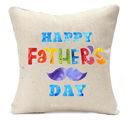 Feliz Padre Día Gran Hombre I love your Daddy Manta de lino y algodón funda de almohada cojín caso decorativo de día festivo 45,7x 45,7cm, 2