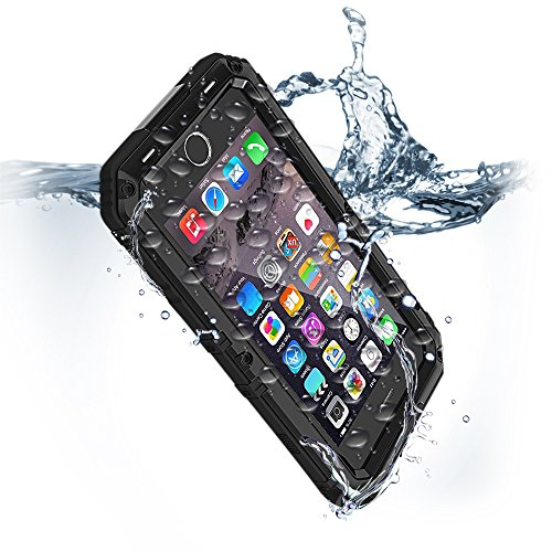 Compatible iPhone 8 Plus Case Waterproof Swimming for iPhone 7 Plus Cases with Stand Apple Phone Shockproof Military Grade Heavy Duty Silicone with Screen Protector Full Body Rugged Armor Metal Cover
