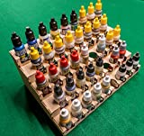 GameCraft Miniatures Paint Rack - 26mm, for Vallejo and Army Painter Style Dropper Bottles