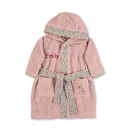 Sterntaler Baby Kinder Bademantel Bär rosa 98/104 mit Namen bestickt